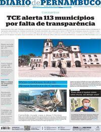 Capa do jornal Diario de Pernambuco 08/07/2020
