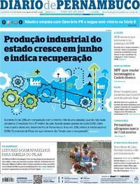 Capa do jornal Diario de Pernambuco 12/08/2020