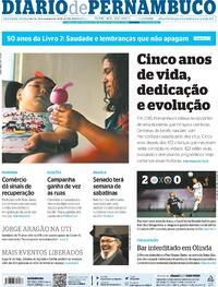 Capa do jornal Diario de Pernambuco 19/10/2020