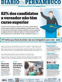 Capa do jornal Diario de Pernambuco 21/10/2020