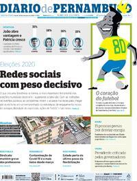 Capa do jornal Diario de Pernambuco 23/10/2020