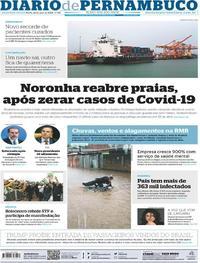 Capa do jornal Diario de Pernambuco 25/05/2020