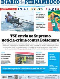 Capa do jornal Diario de Pernambuco 03/08/2021