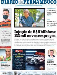 Capa do jornal Diario de Pernambuco 04/08/2021