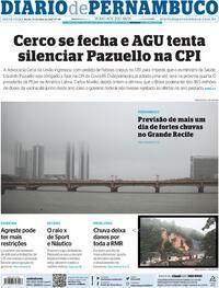 Capa do jornal Diario de Pernambuco 14/05/2021