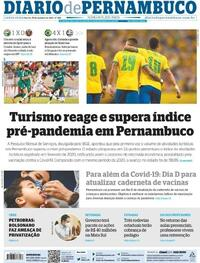 Capa do jornal Diario de Pernambuco 15/10/2021