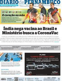 Capa do jornal Diario de Pernambuco 16/01/2021
