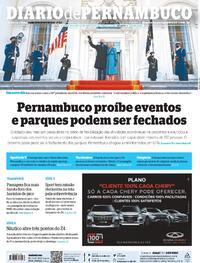 Capa do jornal Diario de Pernambuco 21/01/2021