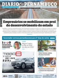 Capa do jornal Diario de Pernambuco 25/09/2021