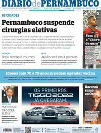 Capa do jornal Diario de Pernambuco 26/02/2021