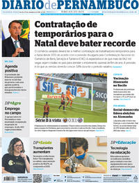Capa do jornal Diario de Pernambuco 27/09/2021