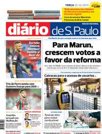 Capa Diário de São Paulo 2017-12-12