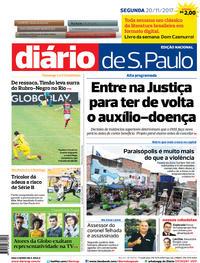 Capa Diário de São Paulo 2017-11-20