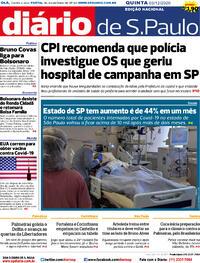 Capa do jornal Diário de São Paulo 03/12/2020