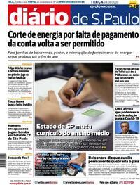 Capa do jornal Diário de São Paulo 04/08/2020