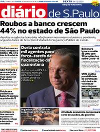 Capa do jornal Diário de São Paulo 04/12/2020