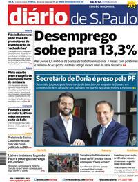 Capa do jornal Diário de São Paulo 07/08/2020