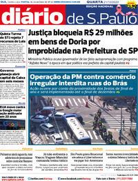 Capa do jornal Diário de São Paulo 21/10/2020