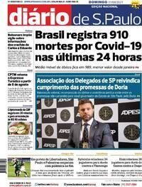 Capa do jornal Diário de São Paulo 01/08/2021