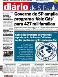 Capa do jornal Diário de São Paulo 04/08/2021