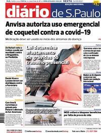 Capa do jornal Diário de São Paulo 14/05/2021