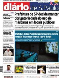Capa do jornal Diário de São Paulo 15/10/2021