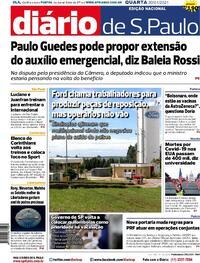 Capa do jornal Diário de São Paulo 21/01/2021