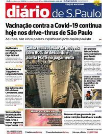 Capa do jornal Diário de São Paulo 28/02/2021