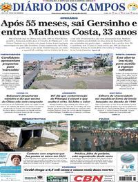 Capa do jornal Diário dos Campos 22/10/2020
