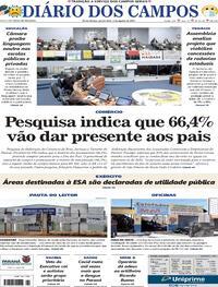 Capa do jornal Diário dos Campos 05/08/2021