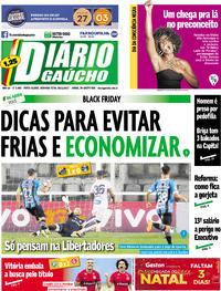 Capa Diário Gaúcho 2017-11-20