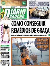 Capa Diário Gaúcho 2018-08-17