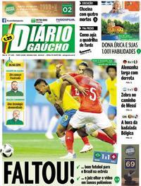 Capa Diário Gaúcho 2018-06-18