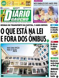 Capa Diário Gaúcho 2019-02-16