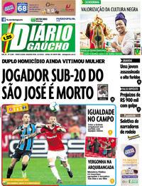 Capa Jornal Diário Gaúcho