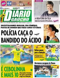 Capa Diário Gaúcho 2019-06-24