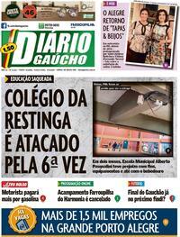 Capa do jornal Diário Gaúcho 04/08/2020