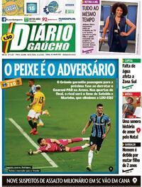 Capa do jornal Diário Gaúcho 04/12/2020