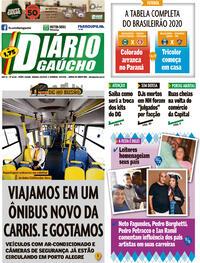 Capa do jornal Diário Gaúcho 08/08/2020