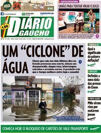 Capa do jornal Diário Gaúcho 09/07/2020