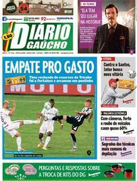 Capa do jornal Diário Gaúcho 13/08/2020