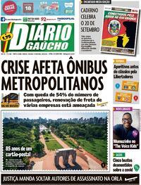 Capa do jornal Diário Gaúcho 19/09/2020