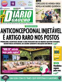 Capa Diário Gaúcho 2020-01-21