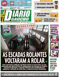Capa do jornal Diário Gaúcho 24/10/2020