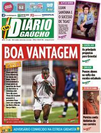 Capa do jornal Diário Gaúcho 29/10/2020