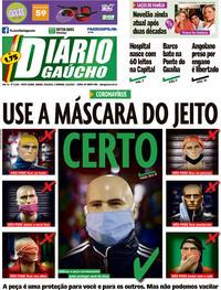 Capa do jornal Diário Gaúcho 30/05/2020