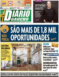 Capa do jornal Diário Gaúcho 03/08/2021