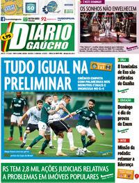 Capa do jornal Diário Gaúcho 16/01/2021