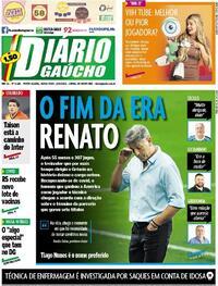 Capa do jornal Diário Gaúcho 16/04/2021