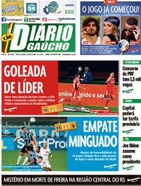 Capa do jornal Diário Gaúcho 21/01/2021